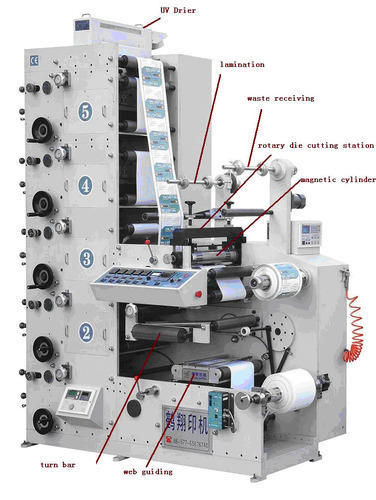 Flexo Graphic Label Printing Machines Max लेबल प्रिंटर