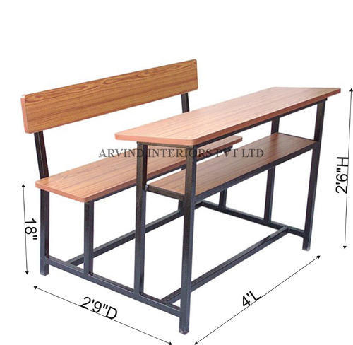 Unique 70 Of 3 Seater School Bench Size, What Is The Size Of A School Desk