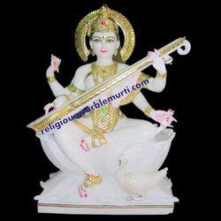 Mata Saraswati Marble Idols