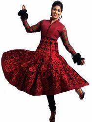 Red Churidar Suit