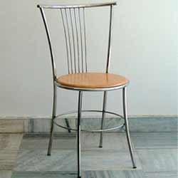Awesome Dining Stainless Steel Wooden Chair