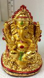 High Quality Lord Ganesh Gold Statue Show Piece Idol Ganapat