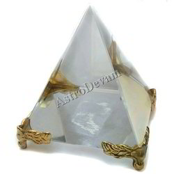 Crystal Pyramid On Stand Crystal Pyramid