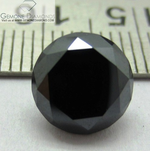 Polished Brilliant Round Cut Loose Black Moissanite