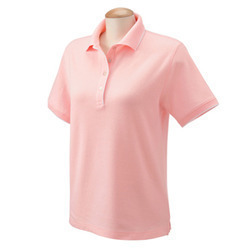 Ladies Cotton Collar T- Shirt