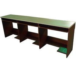 Wooden 3 Seater Computer Table