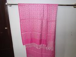 Pink Dot Printed Woven Stoles