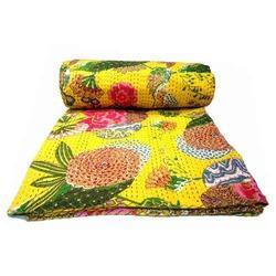 Yellow Kantha Quilts