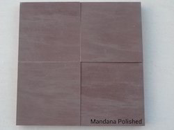 Tile Red Mandana Polished Sandstone, for Flooring, Packaging Type: Wooden Crates