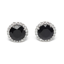 Black Onyx & Diamond Earring