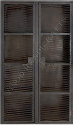 Brown Iron Mesh Door Almirah