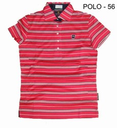 Red Ladies Golf Polo T-Shirt, Size: S, M & L