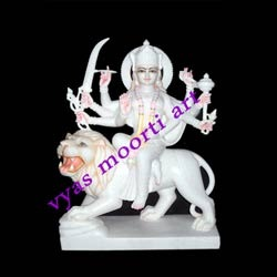Exquisite Goddess Durga from Marble