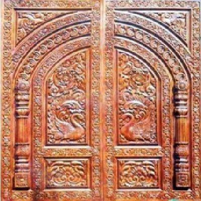 Carved Door With Antique Design - Carved Door With Antique Design - Sri Ratham Wood Designing, Madurai