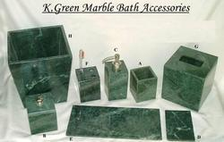 Bathroom Accessories Green stone and marble bathroom accessories - designer marble stone soap