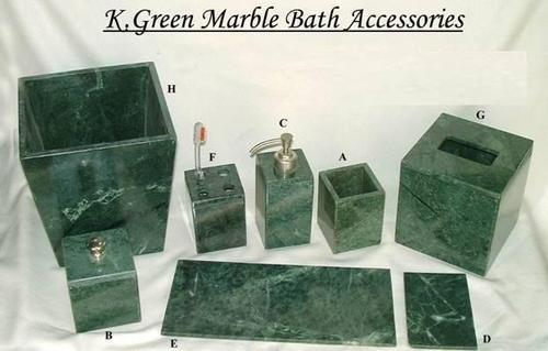 Green Marble Bath Set At Rs 1500 Set Marble Bathroom