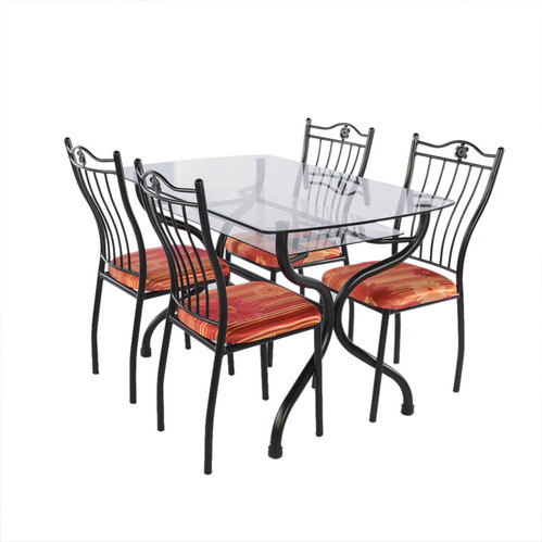 Wrought Iron Metal Dining Table Set Rs, Wood And Iron Dining Room Set