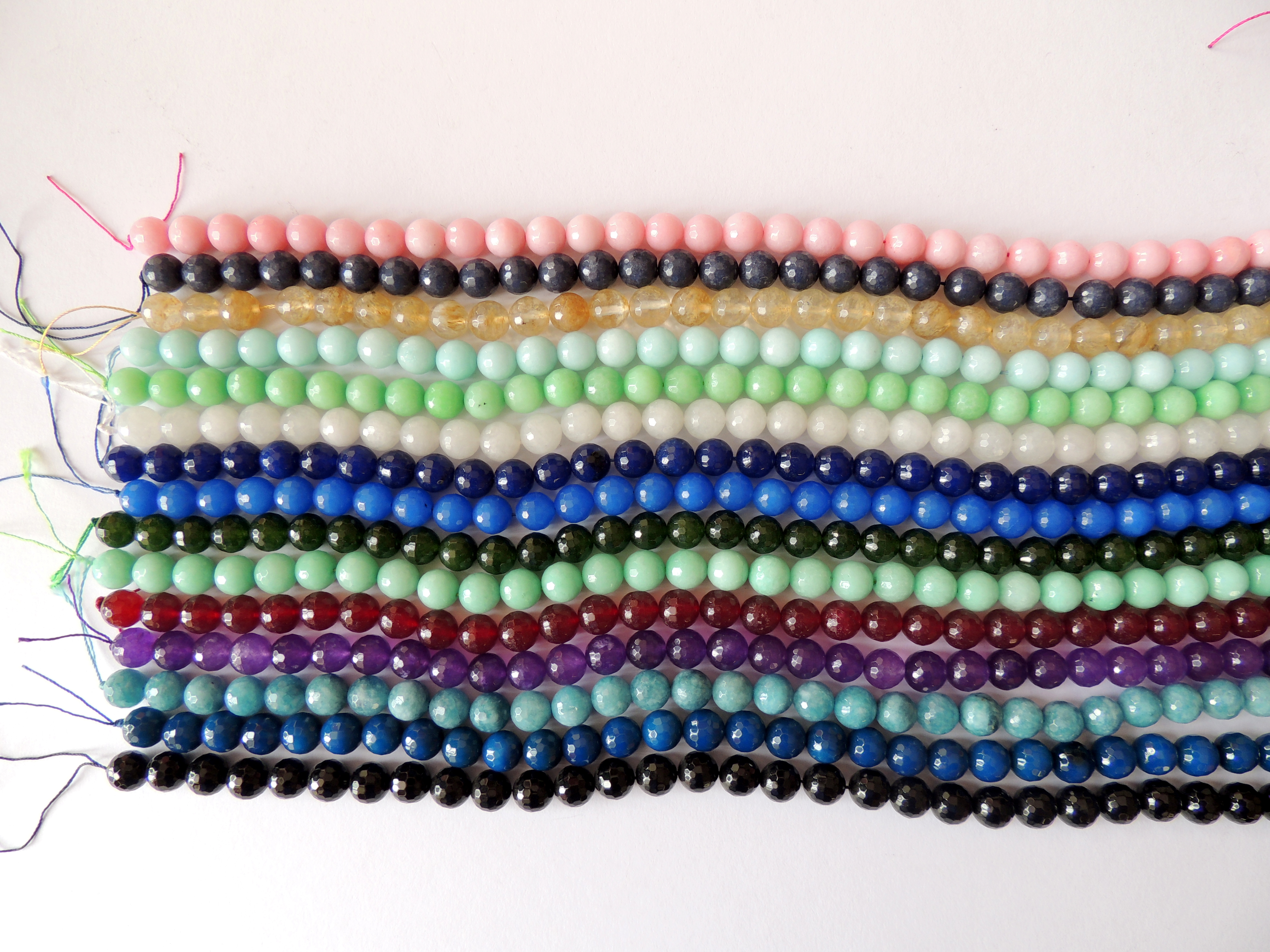 Round Multicolour Faceted  Beads