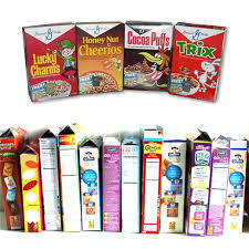 Multicolor Offset Printed Cereal Boxes