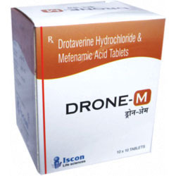 Drone-M Tablet ( Drotaverin 80 mg Metenamic Acid I.P 250 mg )