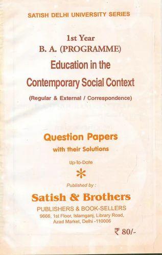 Ba 1st Year Book