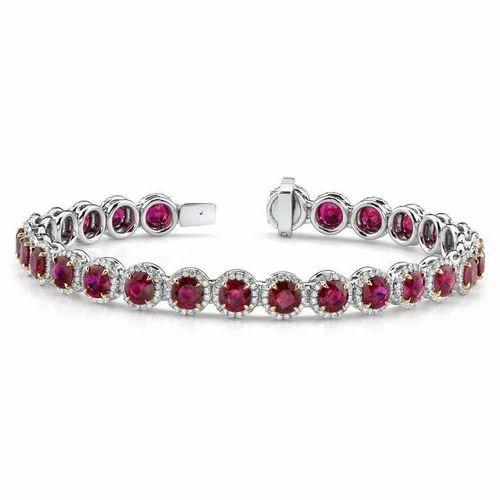 Bracelet Ruby Diamonds at Rs piece s