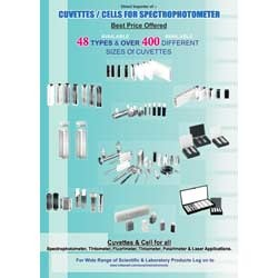 Cuvettes and Cells for Spectrophotometer