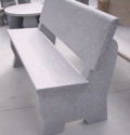 Simple Granite Bench With Back Rest
