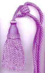 Lavender Tassel Tieback