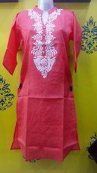 Linen Embroiderd Kurti