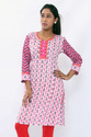 Cotton Pintuck Kurtis