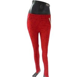 Red Ladies Jeggings