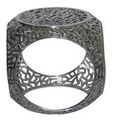 Polished Aluminum Stool
