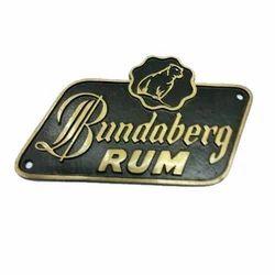 Brass Liquor Caption Plate