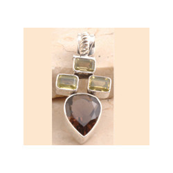 Lemon Quartz Pendent Set in 925 Sterling Silver