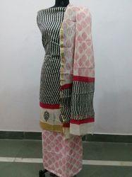 Chanderi Ghicha Border Suit