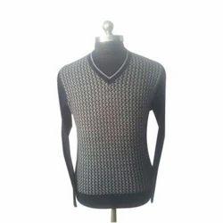V Shape Men Acrylic Sweater