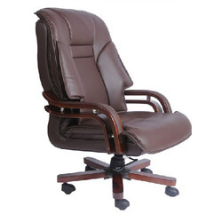 Wooden and Leather Executive Chairs