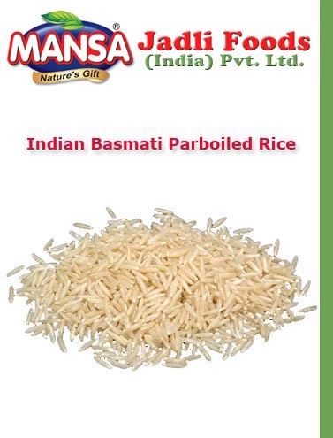 Indian Basmati Parboiled Rice Jadli Foods India Private