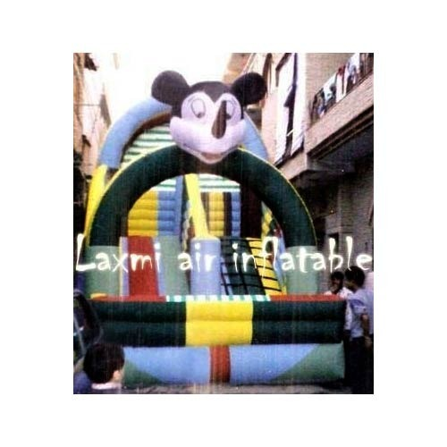 Laxmi Air Inflatable Inflatable Slider Bouncy, Size/Dimension: 12 X 17 Feet