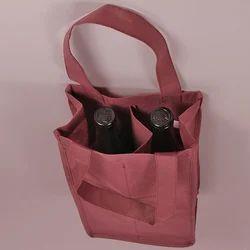 Edible & Non-Edible Marron Non Woven Wine Bag