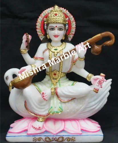 Goddess Saraswati Marble Saraswati Maa Statue Exporter