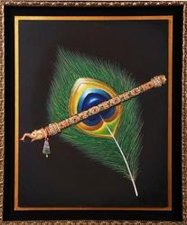 Krishna Feather Miniature Painting