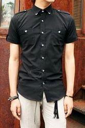 Black Wing Collar Tuxedo Shirt
