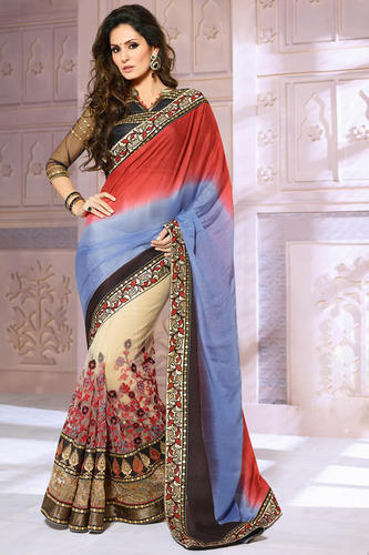dfed78c64e Multi Half And Half Fancy Saree - Online Sarees Shopping, Surat | ID ...