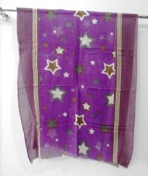 Georgette Star Printed Stoles