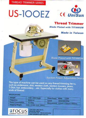 UNISUN THREAD TRIMMER MACHINE - View Specifications & Details of