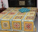 Tribal Bohemian Suzani Bed Cover