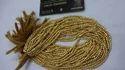 Golden Coated Pyrite Cut Beads