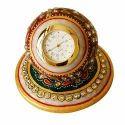 Meenakari Round in Round Marble Clock